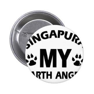 singapura cat design buttons