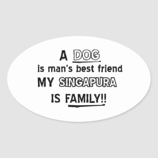 SINGAPURA Cat Designs Oval Sticker