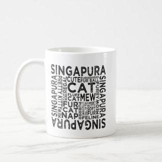 Singapura Cat Typography Coffee Mug