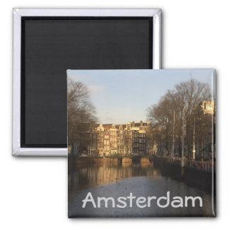 Singel, Amsterdam 2 Inch Square Magnet