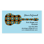Singer and Guitar Instructor Business Card