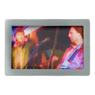singer and guitar player saturated image belt buckle