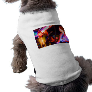 singer and guitar player saturated image pet tshirt