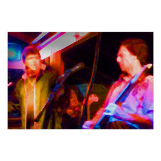 singer and guitar player saturated image print