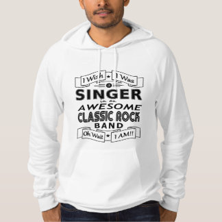 SINGER awesome classic rock band (blk) Hoodie