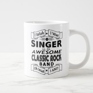 SINGER awesome classic rock band (blk) Large Coffee Mug