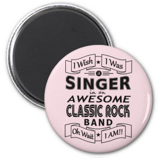 SINGER awesome classic rock band (blk) Magnet
