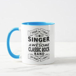 SINGER awesome classic rock band (blk) Mug