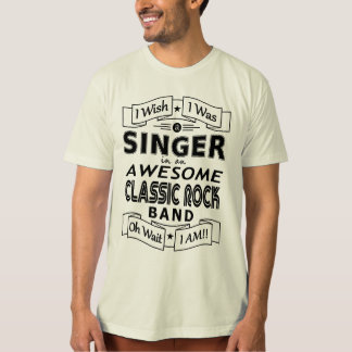 SINGER awesome classic rock band (blk) T-Shirt