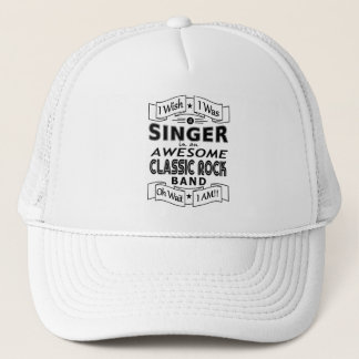 SINGER awesome classic rock band (blk) Trucker Hat
