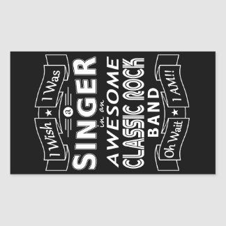 SINGER awesome classic rock band (wht) Rectangular Sticker