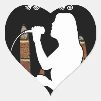 SINGER BRICK BACKGROUND PRODUCTS HEART STICKER