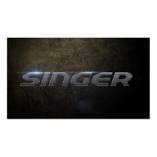 Singer Business card Tarjetas De Visita