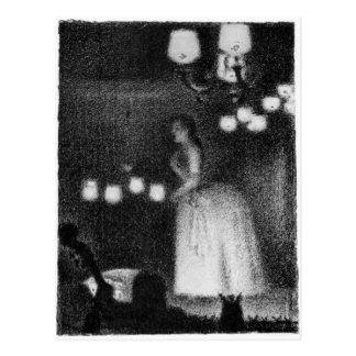 Singer by Georges Seurat Postcard