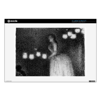 Singer by Georges Seurat Skin For Laptop