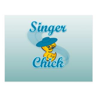 Singer Chick #3 Postcard