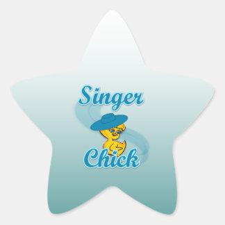 Singer Chick #3 Star Sticker