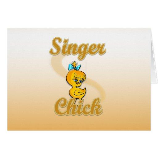 Singer Chick Card