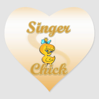 Singer Chick Stickers
