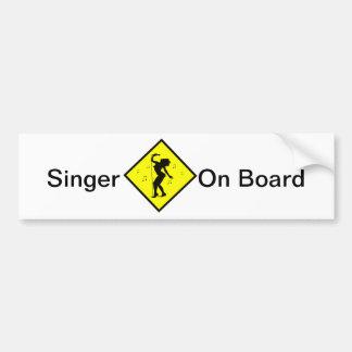 Singer Diva Crossing Sign Bumper Sticker
