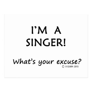 Singer Excuse Postcard