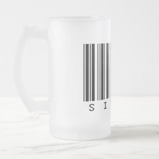 Singer Frosted Glass Beer Mug