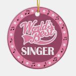 Singer Gift For Her Christmas Tree Ornament