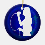 SINGER GIRL PRODUCTS CHRISTMAS TREE ORNAMENT