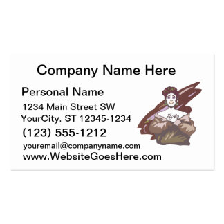 Singer graphic, muted burgundy color version business card