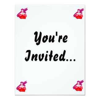 Singer graphic, red color version 4.25x5.5 paper invitation card