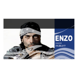 Singer Headshot for Vocalist Musician Business Card Template