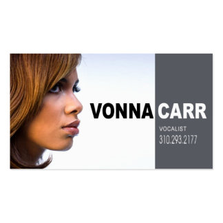 Singer Headshot for Vocalist Musician Double-Sided Standard Business Cards (Pack Of 100)