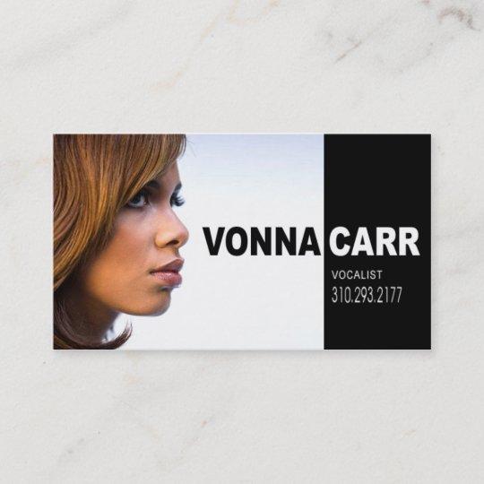 Singer headshot for vocalist musician business card zazzle singer headshot for vocalist musician business card colourmoves