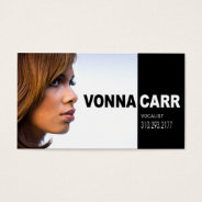 Singer Headshot For Vocalist Musician Business Card at Zazzle
