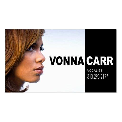 Singer Headshot for Vocalist Musician Business Card Templates