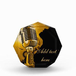 Singer I Am,Gold_ Acrylic Award