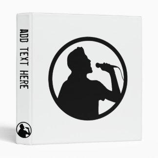 Singer Icon - Karaoke Logo 3 Ring Binders