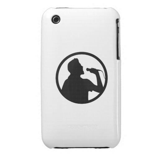 Singer Icon - Karaoke Logo Case-Mate iPhone 3 Cases