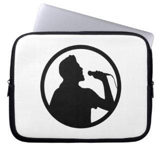 Singer Icon - Karaoke Logo Laptop Computer Sleeve