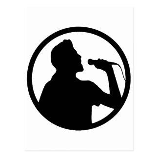 Singer Icon - Karaoke Logo Postcard