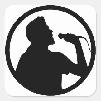 Singer Icon - Karaoke Logo Square Sticker