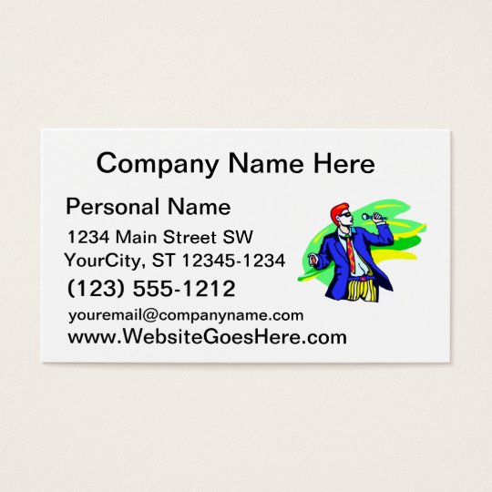 Singer in Suit and Sunglasses Business Card