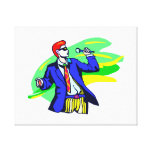 Singer in Suit and Sunglasses Gallery Wrapped Canvas