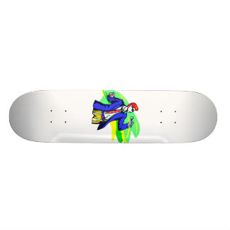 Singer in Suit and Sunglasses Skateboard Deck