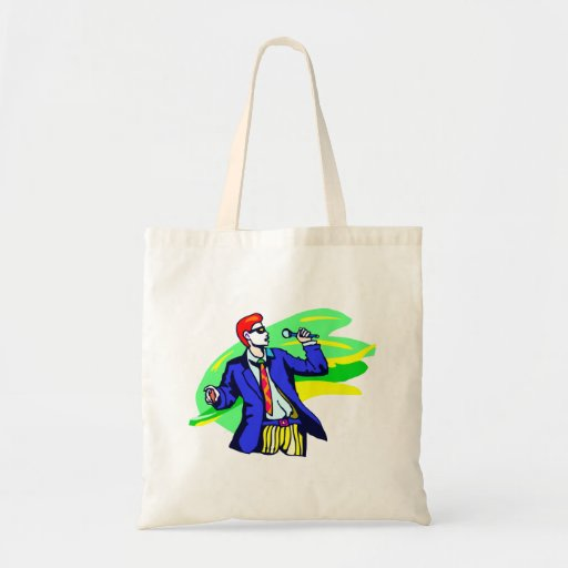 Singer in Suit and Sunglasses Tote Bag