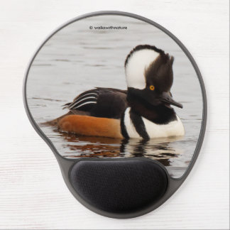 Singer in the Making: Hooded Merganser Gel Mouse Pad