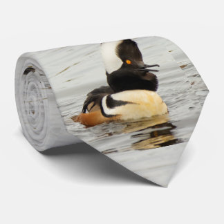 Singer in the Making: Hooded Merganser Neck Tie