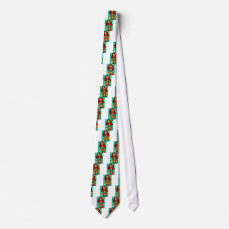 Singer lady painting neck tie