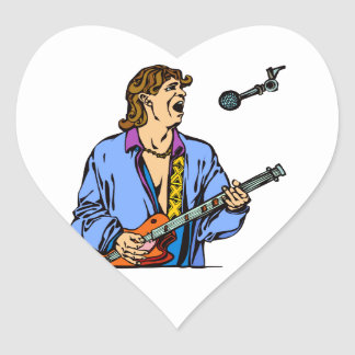singer male realistic blue shirt mic png stickers