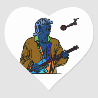 singer male realistic invert png heart stickers